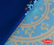 Hobby Exclusive Sateen Ottoman блакитний 200*220/4*50*70 - фото 21614