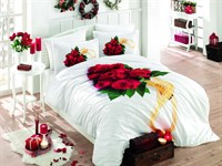 КПБ Hobby Poplin Rosemary червоний 200*220/2*50*70