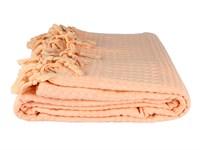 Покривало-плед Checkers персик 220*240 - фото 22200