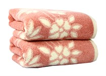 Рушник махровий Maisonette Solvron 76*152 рожевий 550 г/м2 - фото 22435