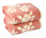 Рушник махровий Maisonette Solvron 76*152 рожевий 550 г/м2 - фото 22436