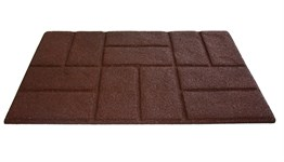 Килимок придверний Torn Brick 50*75 коричневий