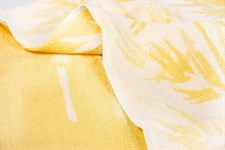 Рушник махровий Maisonette Bamboo Leaf 76*152 жовтий 500 г/м2 - фото 22560