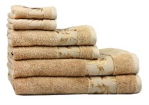 Рушник махровий Maisonette Bamboo 76*152 бежевий 500 г/м2 - фото 22638