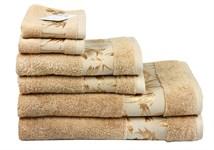 Рушник махровий Maisonette Bamboo 76*152 бежевий 500 г/м2 - фото 22639