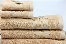 Рушник махровий Maisonette Bamboo 76*152 бежевий 500 г/м2 - фото 22641