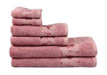 Рушник махровий Maisonette Bamboo 76*152 т.рожевий 500 г/м2
