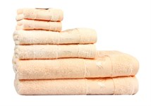 Рушник махровий Maisonette Bamboo 76*152 персиковий 500 г/м2 - фото 22652