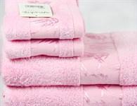 Рушник махровий Maisonette Bamboo 76*152 рожевий 500 г/м2 - фото 22667