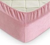Простирадло на резинці махрове 160*200+25 т.рожевий
