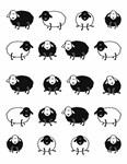 """Плед """"Happy Sheep"""" 140*200 чорний - фото 22955"""