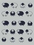 """Плед """"Happy Sheep"""" 140*200 т.синій - фото 23011"""