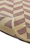 Набір килимків SOLO 40*60+60*90 KREM PEMBE ZIGZAG - фото 23056