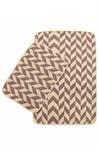 Набір килимків SOLO 40*60+60*90 KREM PEMBE ZIGZAG