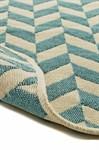 Набір килимків SOLO 40*60+60*90 KREM MAVI ZIGZAG - фото 23062
