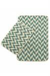 Набір килимків SOLO 40*60+60*90 KREM MAVI ZIGZAG - фото 23063