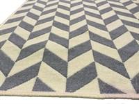 Набір килимків SOLO 40*60+60*90 KREM GRI ZIGZAG - фото 23066