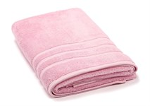 Рушник махровий Maisonette Micro Touch 70*140 рожевий 500 г/м2 - фото 23100