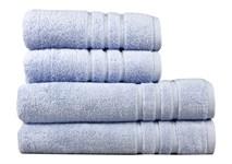 Рушник махровий Maisonette Micro Touch 70*140 блакитно-бузковий 500 г/м2 - фото 23106