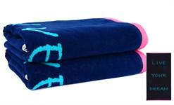 Рушник пляжний Maisonette Dream 70*130 блакитний 400 г/м2 - фото 23124