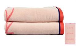 Рушник пляжний Maisonette Dream 70*130 рожевий 400 г/м2