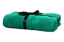 Набір рушник EURO SET Dark Green зелений 70*135 1шт. 500г/м2 - фото 23230