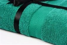 Набір рушник EURO SET Dark Green зелений 70*135 1шт. 500г/м2 - фото 23232
