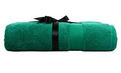 Набір рушник EURO SET Dark Green зелений 70*135 1шт. 500г/м2 - фото 23236