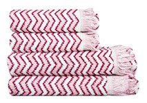 Рушник махровий Maisonette Lord 70*140 т.рожевий 450 г/м2