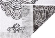 Рушник махровий Maisonette Lora 70*140 сірий 450 г/м2 - фото 23293