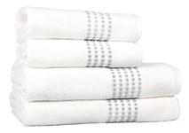 Рушник махровий Maisonette Classy 70*140 білий 460 г/м2 - фото 23356