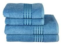 Рушник махровий Maisonette Classy 70*140 синій 460 г/м2
