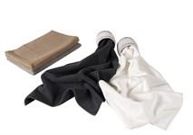 Рушник для ніг Maisonette Marlon 50*80 білий 1000г/м2 - фото 23445