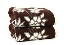 Рушник махровий Maisonette Solvron 50*90 коричневий 550 г/м2 - фото 23673