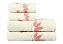 Рушник махровий Maisonette Solvron 50*90 рожевий 550 г/м2 - фото 23683