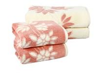 Рушник махровий Maisonette Solvron 50*90 рожевий 550 г/м2 - фото 23686