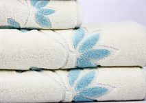Рушник махровий Maisonette Solvron 50*90 блакитний 550 г/м2 - фото 23695
