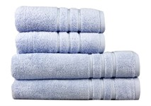 Рушник махровий Maisonette Micro Touch 50*100 блакитно-бузковий 500 г/м2 - фото 23707