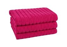 Рушник для ніг Maisonette Rainbow 60*60 фуксія 850г/м2 - фото 23835