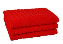 Рушник для ніг Maisonette Rainbow 60*60 червоний 850г/м2 - фото 23845