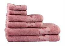 Рушник махровий Maisonette Bamboo 50*100 т.рожевий 500 г/м2 - фото 23967