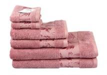 Рушник махровий Maisonette Bamboo 50*100 т.рожевий 500 г/м2 - фото 23968