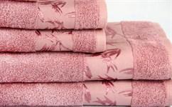 Рушник махровий Maisonette Bamboo 50*100 т.рожевий 500 г/м2 - фото 23969