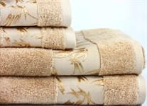 Рушник махровий Maisonette Bamboo 50*100 бежевий 500 г/м2 - фото 23974