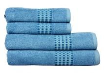 Рушник махровий Maisonette Classy 50*100 синій 460 г/м2 - фото 24026