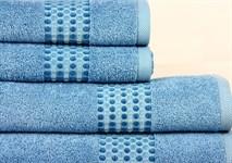 Рушник махровий Maisonette Classy 50*100 синій 460 г/м2 - фото 24028