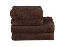 Рушник махровий Maisonette Gold 50*100 т.коричневий 450 г/м2 - фото 24097