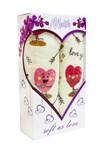 """Подарунковий набір рушн.махр.""""LOVE"""" рожевий 40*60 2шт. в коробці"""