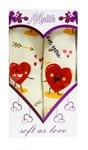 """Подарунковий набір рушн.махр.""""LOVE"""" червоний  40*60 2шт. в коробці - фото 24121"""