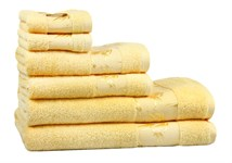 Рушник махровий Maisonette Bamboo 30*50 жовтий 500 г/м2 - фото 24282